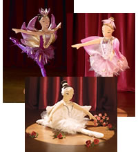 Ballerina Puppets: Swan Lake, Firebird and Waltz of the Flowers