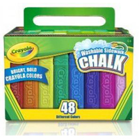 Washable 48 ct. Sidewalk Chalk Pack