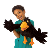 Folkmanis® Yellow Beaked Crow Puppet
