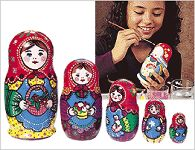 Paint Your Own Matreshka Kit