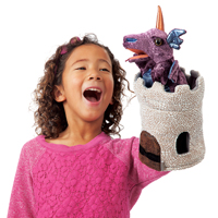 Folkmanis® Dragon in Turret Puppet