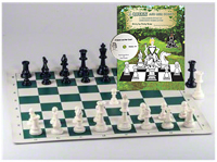 A Queen and Her Court Book,CD, and Chess set
