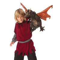 Folkmanis® Black Dragon Puppet