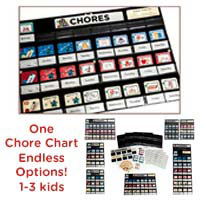 NEATLINGS Chore Chart System for 1-3 children