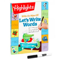 Write-On Wipe-Off Let's Write Words